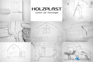 создание учебного фильма Holzplast