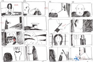 Раскадровка рекламного ролика про квест Клаустрофобия - TodayProduction